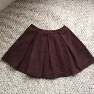 Zara Wool Pleated Mini Skirt